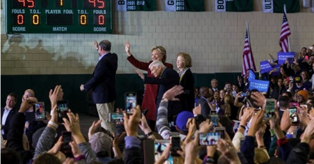 Hillary Clinton and Tim Kaine hold rally at Pittsburgh's Taylor Allderdice High School