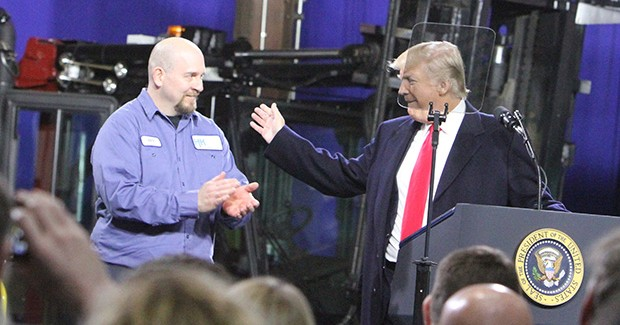 In North Fayette, President Donald Trump touts tax cuts in speech on the economy