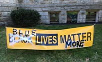 Pittsburgh church replaces vandalized Black Lives Matter banner