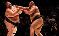 Two world-renowned sumo wrestlers put on exhibit at Stage AE for charity