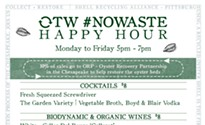 Or, the Whale launches a no-waste happy hour
