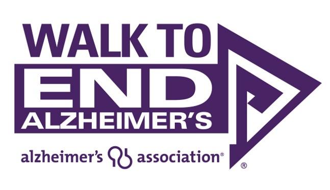 Walk to End Alzheimer's purple logo