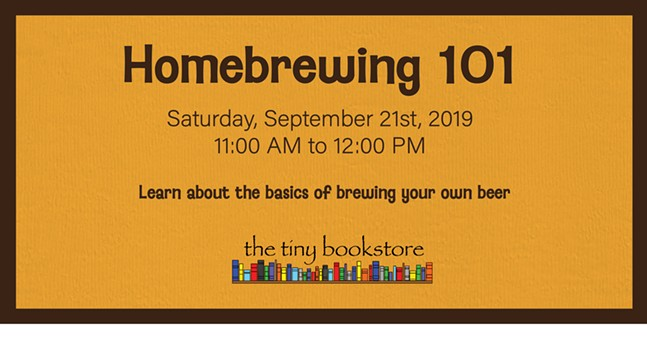Homebrewing 101 at The Tiny Bookstore