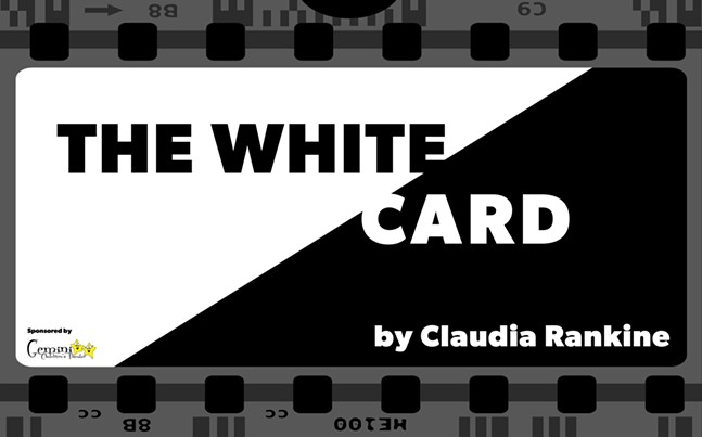 "Cross-Stitch Theater Company's ""The White Card"" poster"