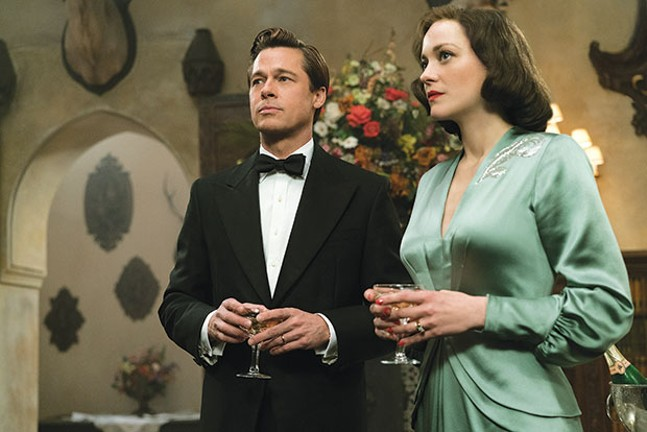 Spy with me: Brad Pitt and Marion Cotillard