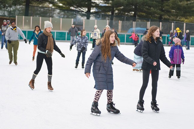 Ice skating at Schenley Park Ice Rink
