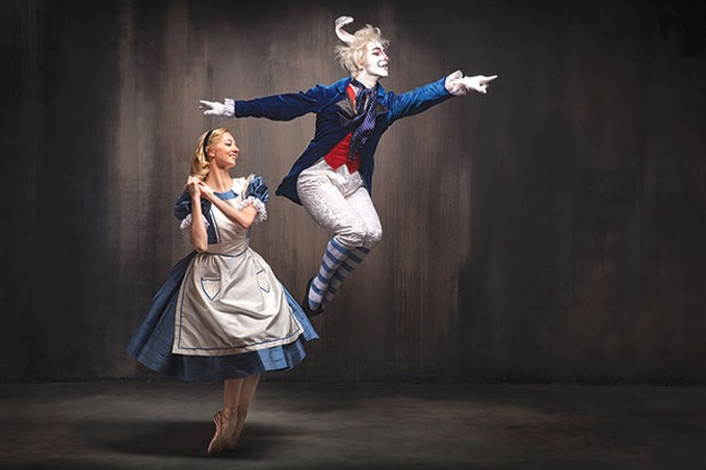 Hannah Carter and William Moore in PBT's Alice in Wonderland