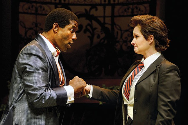 Timothy D. Stickney and Carly Street in Twelfth NIght, at Pittsburgh Public Theater.