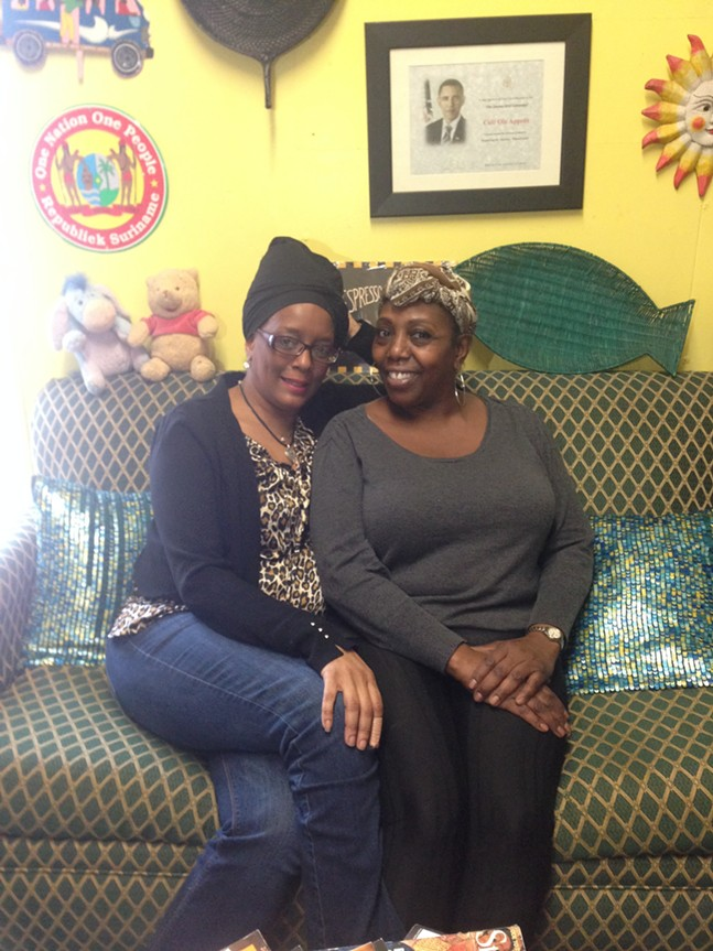 Olafemi Mandley and Jackie Page-Heidelberg at Ola Appetit in Duquesne