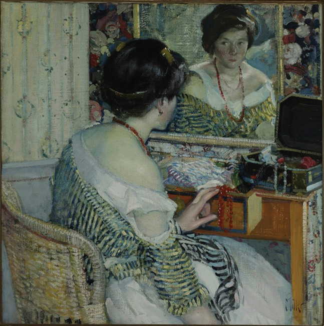 "Richard E. Miller's 1915 painting ""Reflection"" is part of The Stories You Tell."