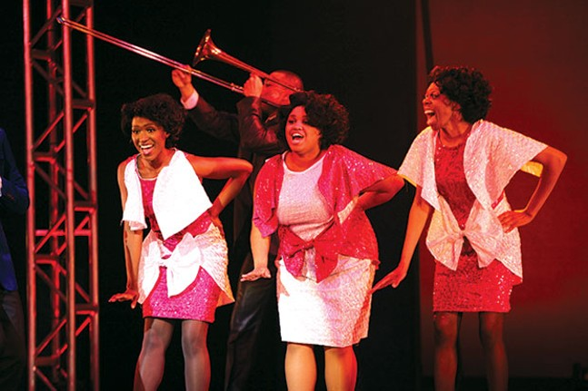 From left: Anastasia Talley, Adriana Cleveland and Delana Flowers in Pittsburgh Musical Theater's Dreamgirls