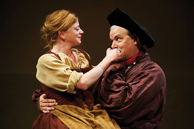Melinda Helfrich and Andrew May in The Guard, at City Theatre