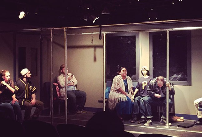 A scene from Lights Out, at Pittsburgh Playwrights