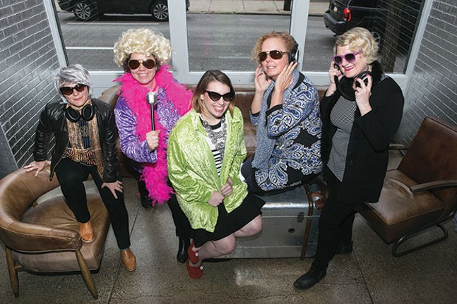 Organizers of The Andy Warhol Museum's Autism Acceptance Disco, from left: Danielle Linzer, Leah Morelli, Jessica Benham, Lu Randall and Nicole Dezelon