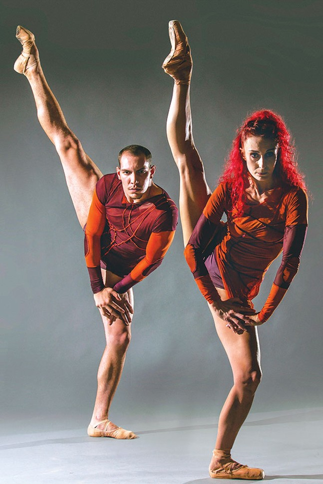 "BJM Danse's Céline Cassone and Mark Francis Caserta inItzikGalili's ""Mono Lisa"""