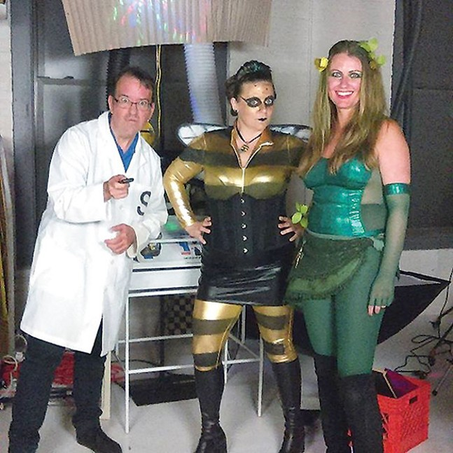 Video Stars: Mike Shanley, Heather Kilgore and Laurie Kudis on the set of Heroineburgh