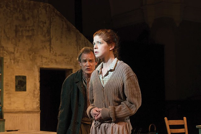 James FitzGerald and Karen Baum in Sive, at PICT Classic Theatre