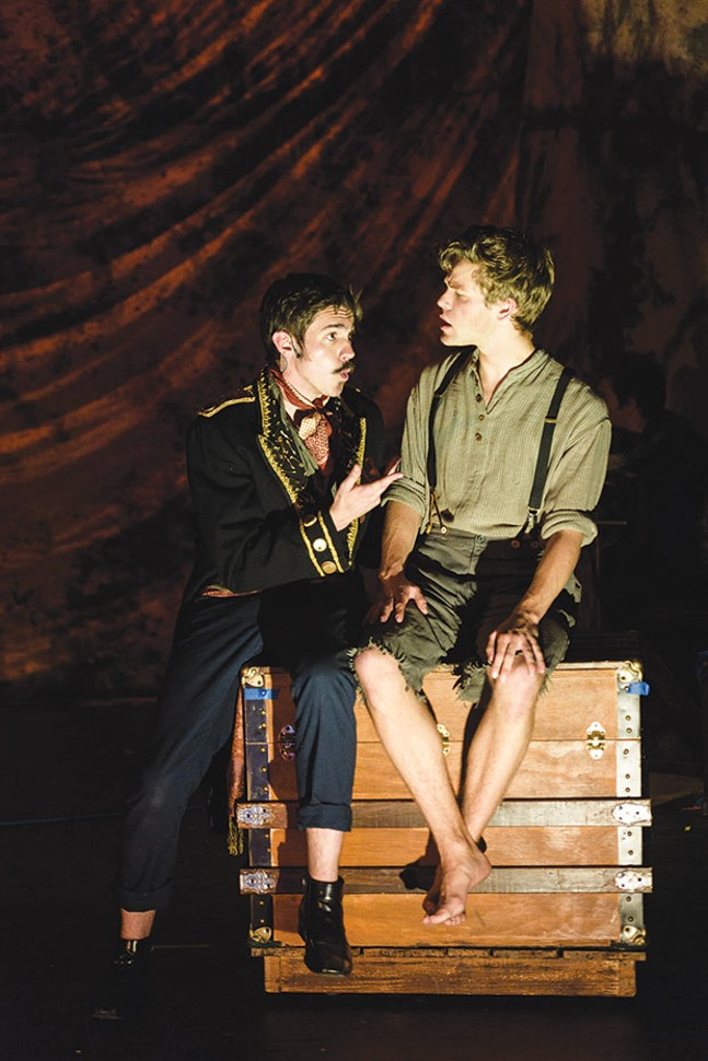 Brett Goodnack (left) and Nate Willey in Peter and the Starcatcher at Stage 62