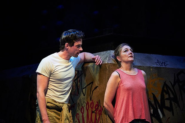 JD Taylor and Rebecca Harris in Ironbound, at City Theatre