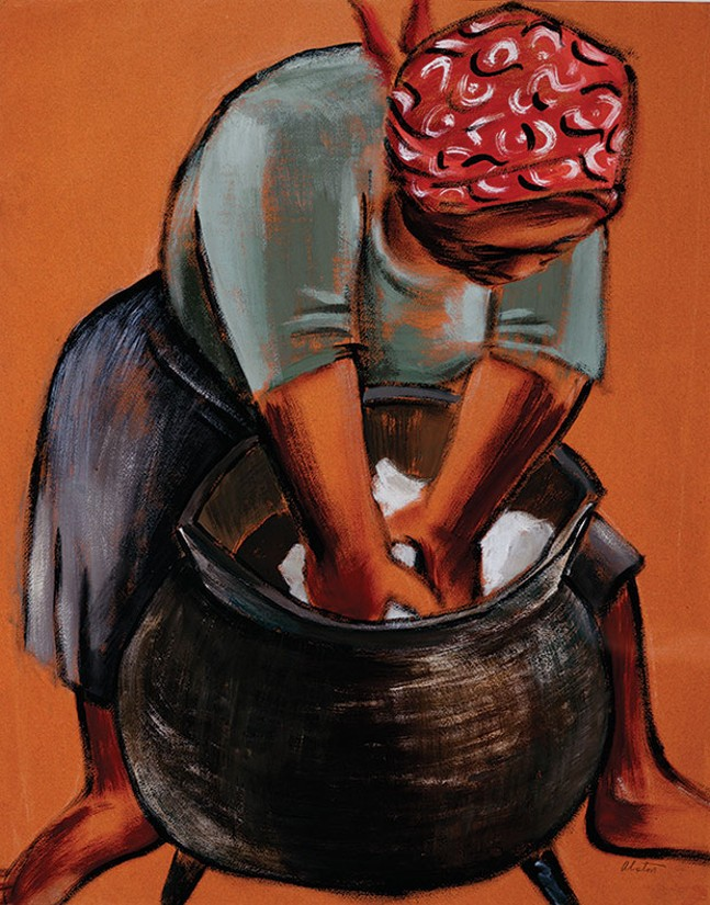 "Charles Alston's ""Woman Washing Clothes"" (1970)"