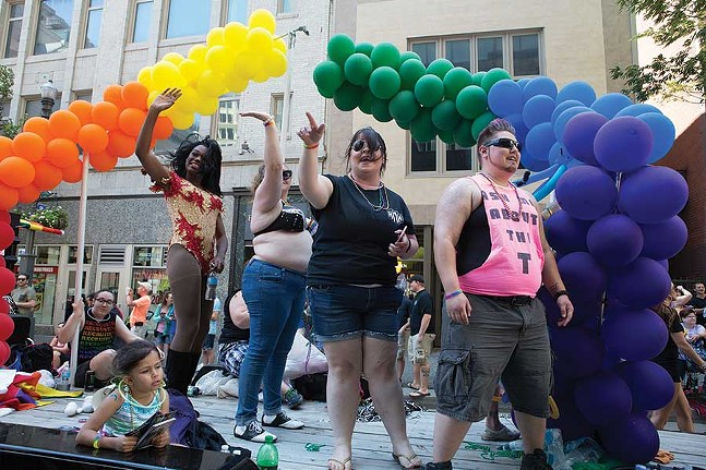 Celebrating at Pride in 2016