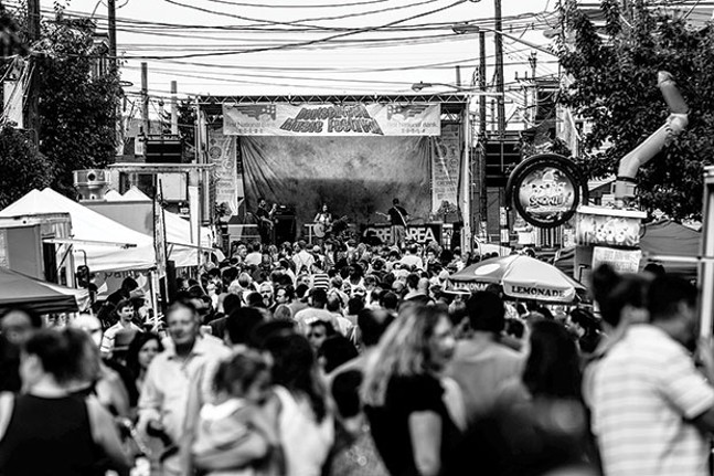 The main stage at last year's Deutschtown Music Festival