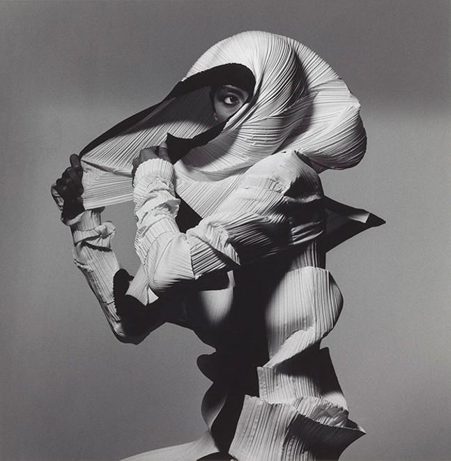 """Issey Miyake Fashion: White and Black,"" by Irving Penn (New York, 1990, printed 1992)"
