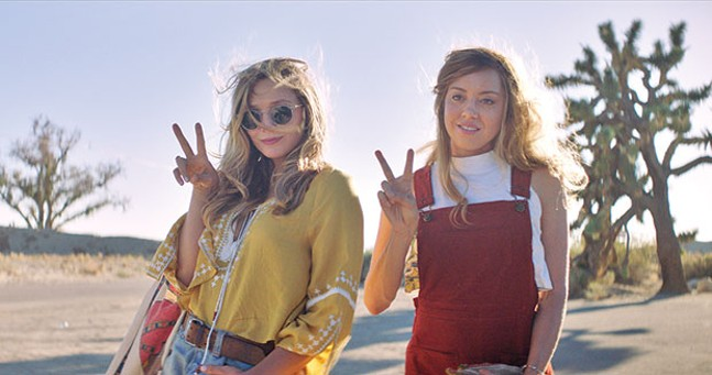 #girlstrip: Taylor (Elizabeth Olsen) and Ingrid (Aubrey Plaza)