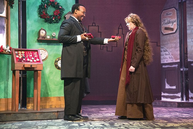 Davion Heron and Becky Brown in The Gift of the Magi at Point Park Conservatory Theatre Co.