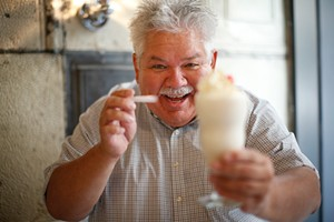 Rick Sebak in Downtown's Milkshake Factory - CP PHOTO BY JARED WICKERHAM