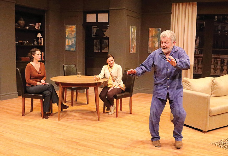 Catherine Gowl, Erin Krom, and Sam Tsoutsouvas in The Father -  - PHOTO: BEA NYILIS