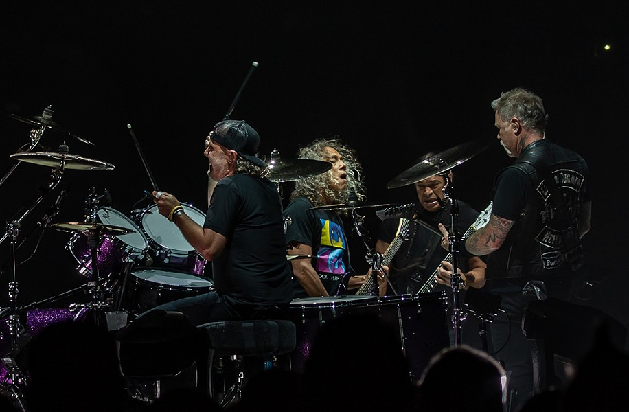 Metallica on stage at PPG Paints Arena - CP PHOTO: MIKE PAPARIELLA