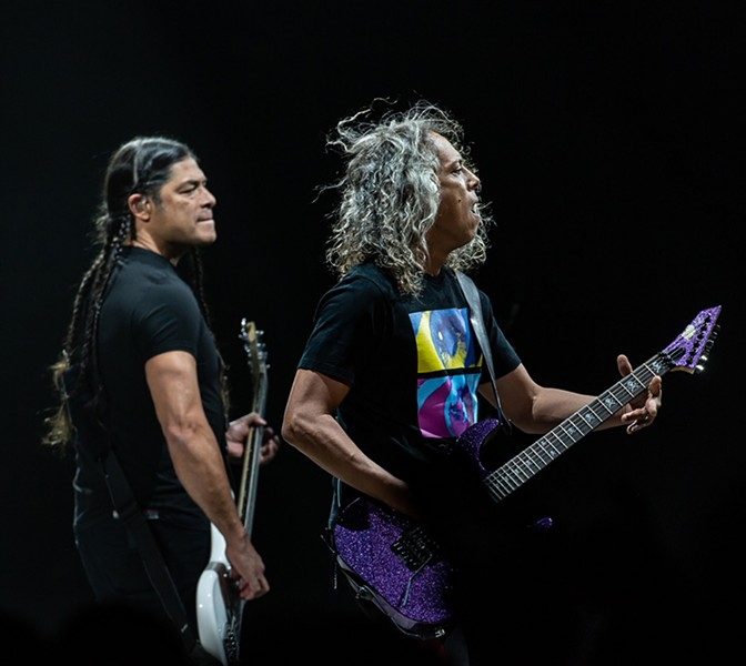 Robert Trujillo and Kirk Hammett - CP PHOTO: MIKE PAPARIELLA