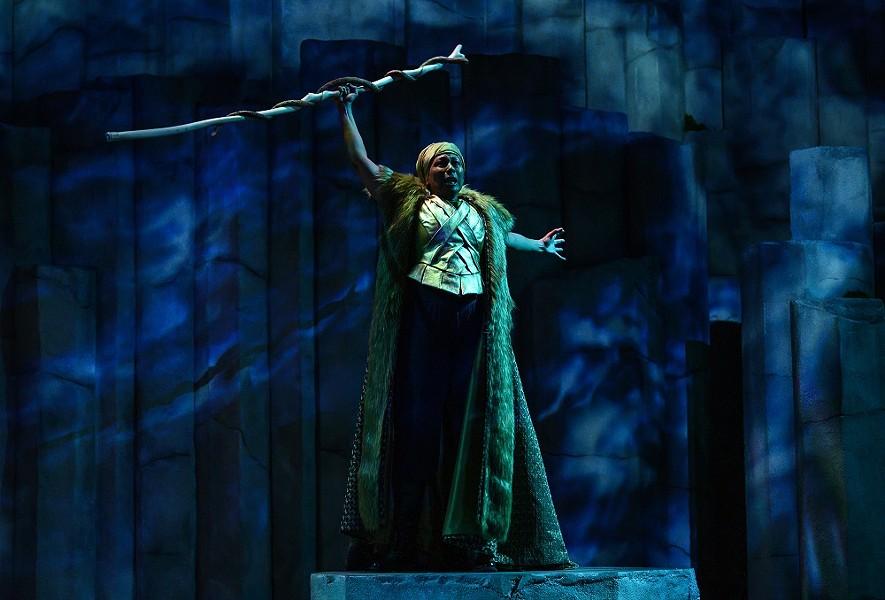Tamara Tunie as Prospero in The Tempest. - MICHAEL HENNINGER