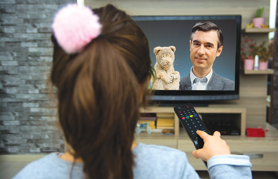 IMAGE OF FRED ROGERS AND DANIEL TIGER COURTESY OF THE FRED