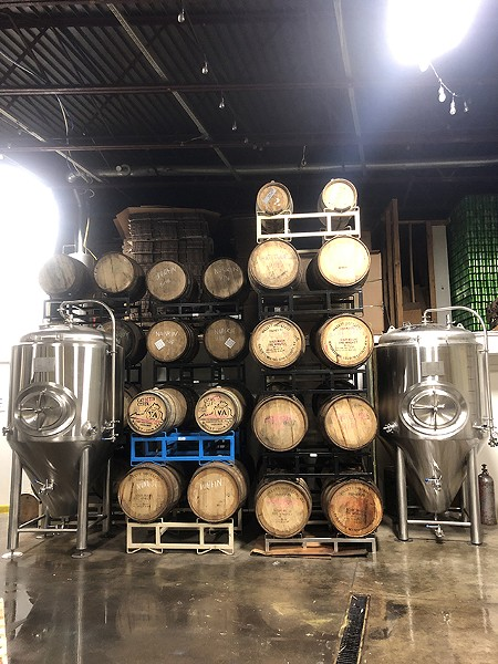 Oak barrels for fermentation - CP PHOTO: JORDAN SNOWDEN