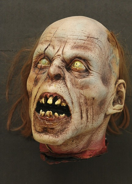 Foam latex Romero zombie head. - GEORGE A. ROMERO COLLECTION, UNIVERSITY OF PITTSBURGH