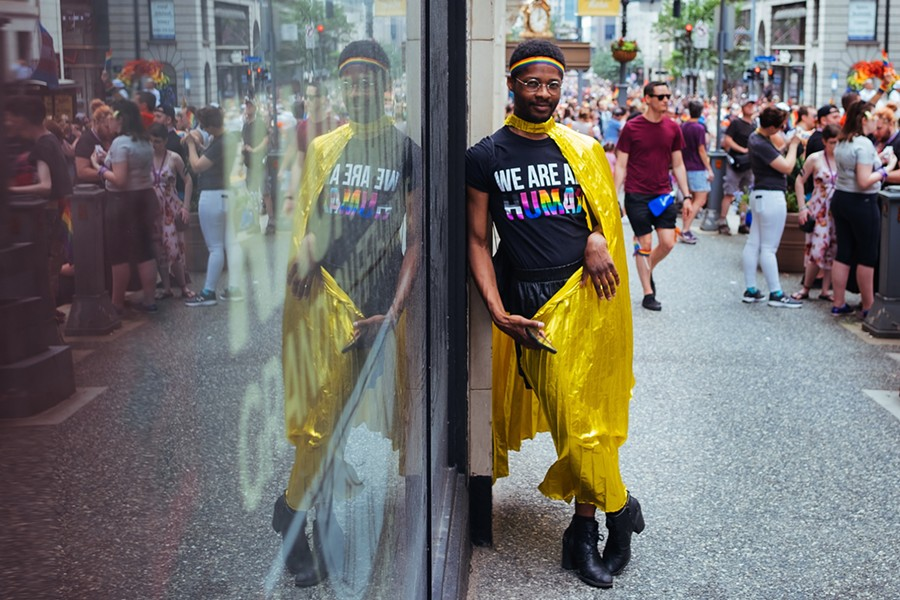 The 2019 Pittsburgh Pride Equality March takes place in downtown. - CP PHOTO: JARED MURPHY