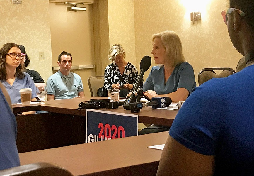 Kirsten Gillibrand speaking in Pittsburgh - CP PHOTO: EMILY WOLFE