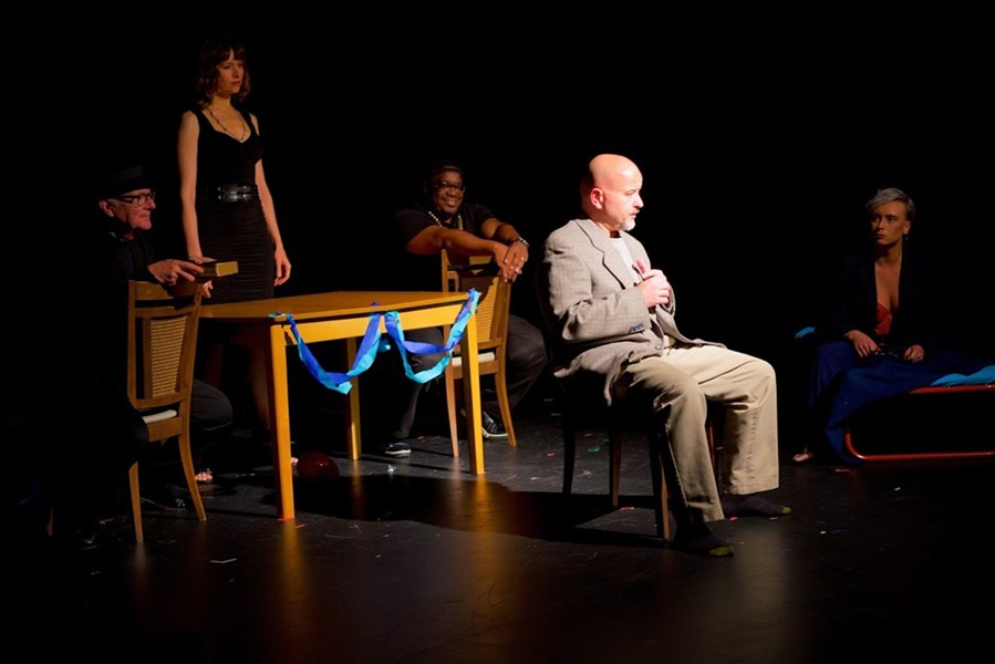 """A scene from 2018 PNWF play """"I Forgot To Worry"""" by Lawrence Paone. - PHOTO: BRITTANY CREEL"""