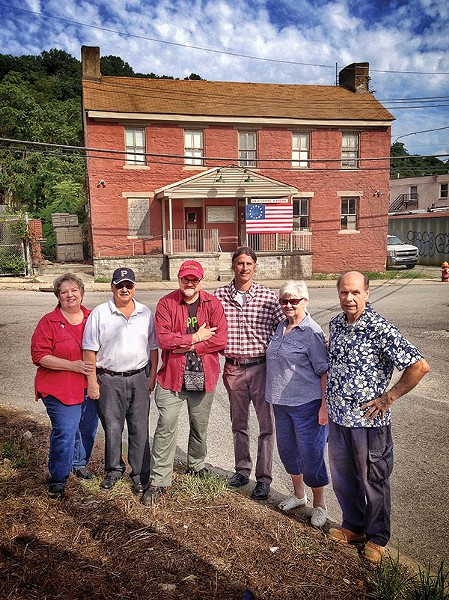 Members of Pittsburgh's Old Stone Tavern Friends Trust (from right): Paul Sentner, Norene Beatty, Cris Mooney, John McNulty, Rich Forster and Lorraine Forster - PHOTO BY HEATHER MULL