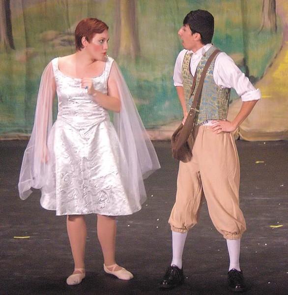 Jezebele Zbozny-DelPercio and Mark F. Harris in Pittsburgh Savoyards' Iolanthe - PHOTO COURTESY OF GREG KORNIDES