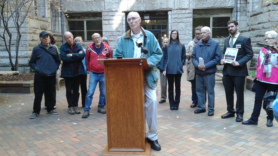 Marty Garrigan, of Springdale, talked about his experience living near the Cheswick Power Plant.