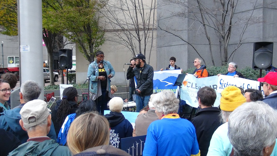 1Hood Media performed at a rally outside of the EPA Clean Power Plan hearings in Pittsburgh - PHOTO BY ASHLEY MURRAY