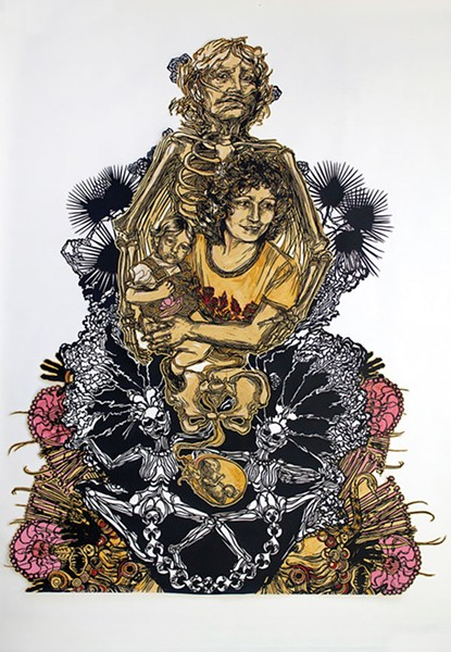 """Memento Mori,"" by Swoon - PHOTO COURTESY OF SWOON STUDIO"