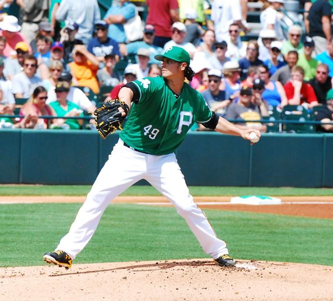 Pittsburgh Pirates pitcher Jeff Locke - PHOTO BY CHARLIE DEITCH