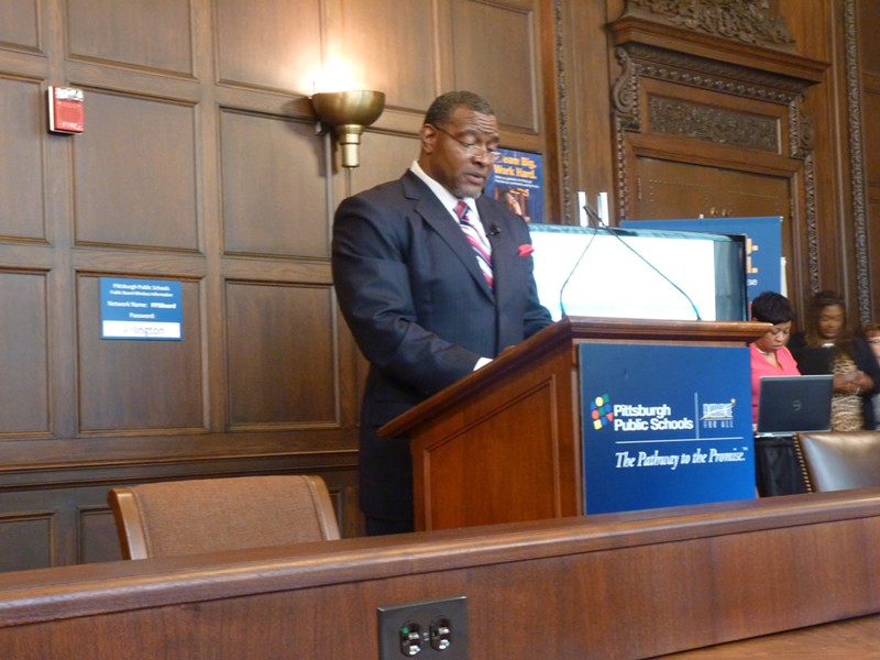 Anthony Hamlet at the June 7 press conference - PHOTO BY REBECCA NUTTALL