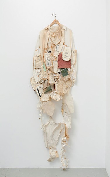 "Alison Knowles' ""Book in a Shirt"" - PHOTO COURTESY OF THE ARTIST AND JAMES FUENTES GALLERY, NEW YORK"