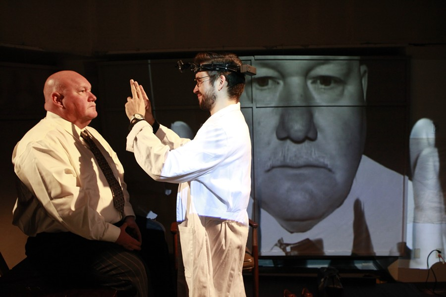 "Kevin Glavin (left) and Ian McEuen in Quantum Theatre's ""The Man Who Mistook His Wife for a Hat"" - PHOTO COURTESY OF HEATHER MULL"