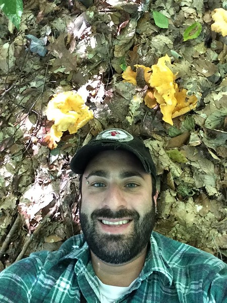 Chef Jeremy Umansky foraging for mushrooms